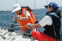 海上での練習風景の写真
