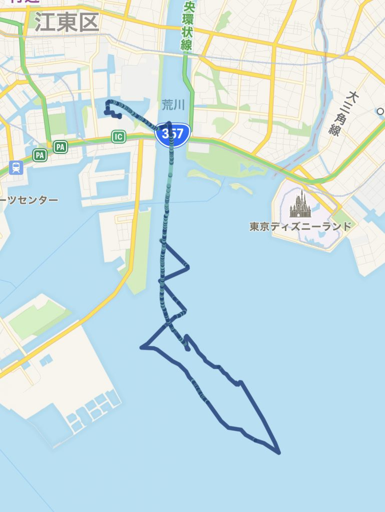航跡マップ